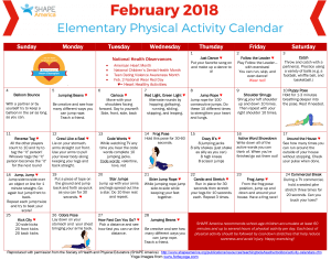 Heart Healthy Calendar