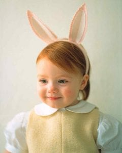 Bunny Ears for Easter. Make kids felt bunny ears! littlemissblog.com