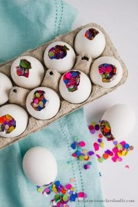 Confetti Eggs. These have a diy tutorial. You can also find them at Walmart if you're short on time! littlemissblog.com