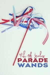 Star Wand for for the 4th of July! Perfect for your at home celebration littlemissblog.com