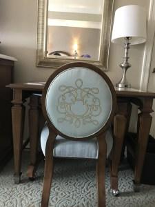 Hidden Mickey Chair at desk inside room