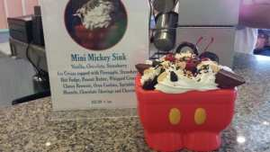 Mickey Sink Ice Cream Sundae