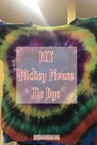 DIY Mickey Mouse Tie Dye Shirts