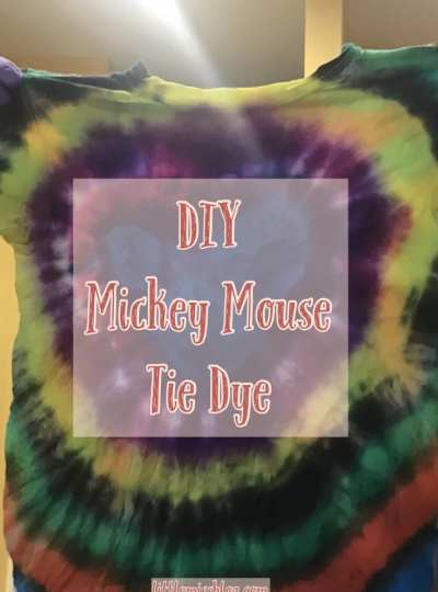 DIY Mickey Mouse Tie Dye Shirts