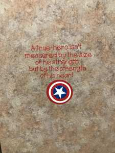 Captain America Vinyl Hero Quote