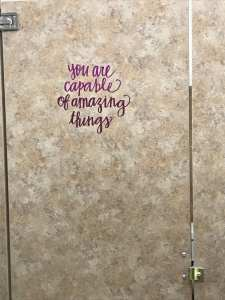 You are capable of amazing things vinyl install