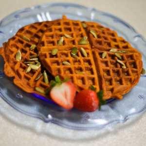 Cinderellas Dreamy Pumpkin Waffles