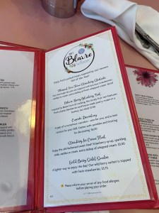 American Girl Doll Bistro Menu