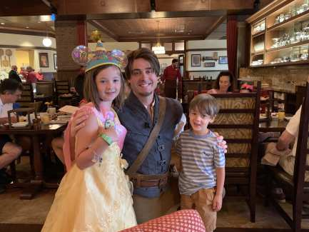Flynn Rider at Rapunzel Breakfast