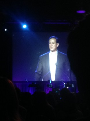 A special and surprise talk given by Rick Santorum!