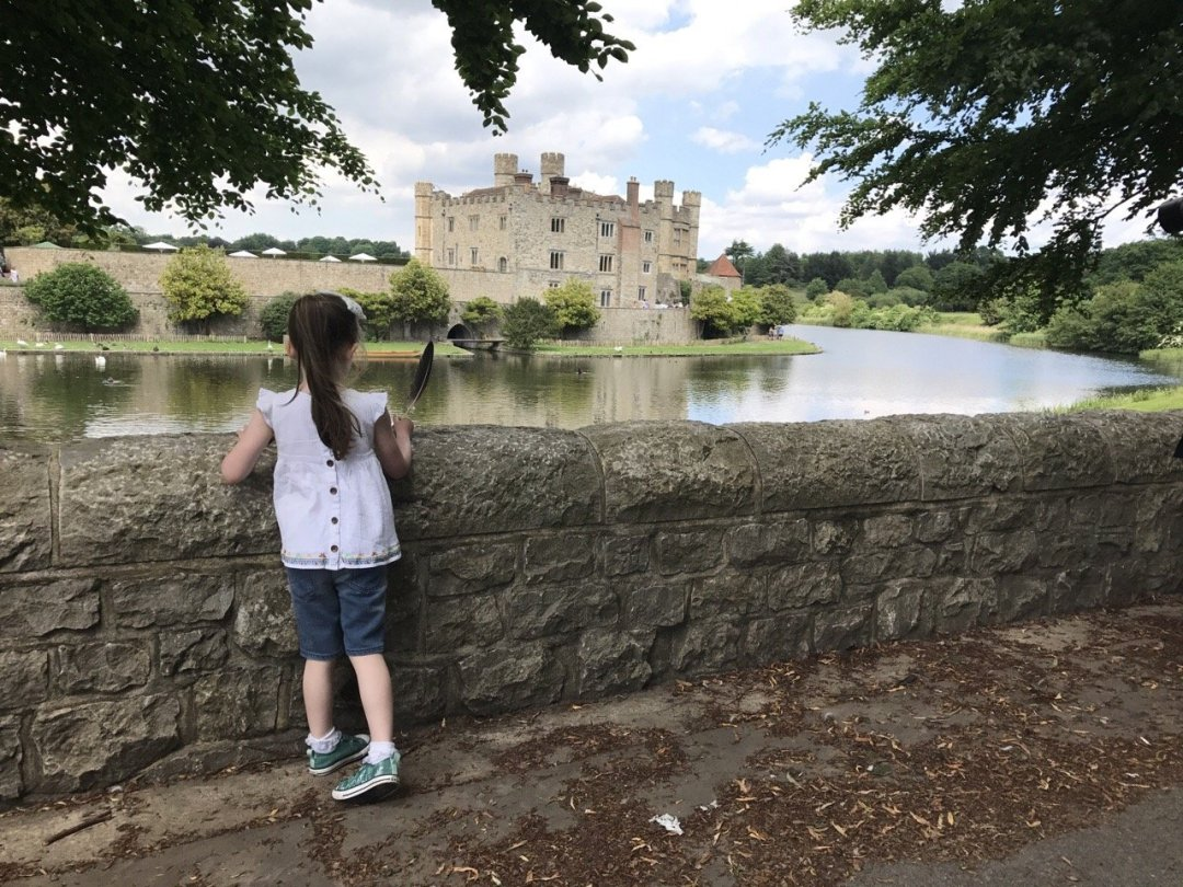 Leeds Castle Eden looking at Castle