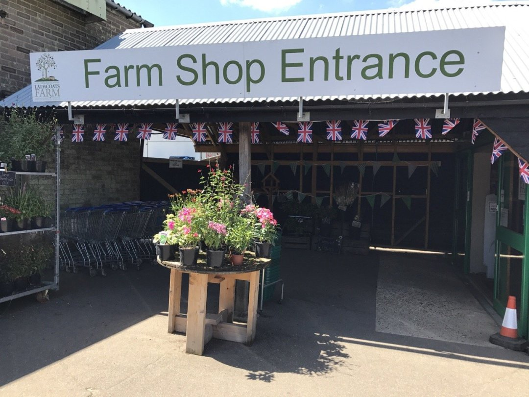 Fruit picking in Essex Lathcoats Farm Farm shop entrance
