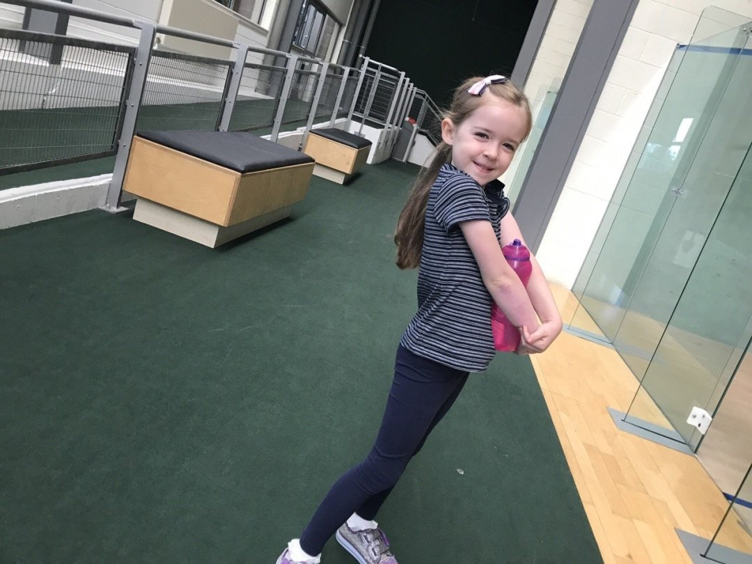 Family Gym Time - David Lloyd eden waiting for class