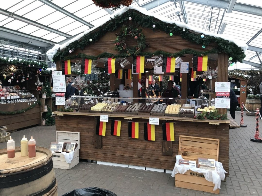 Christmas German Market in Essex Food stall