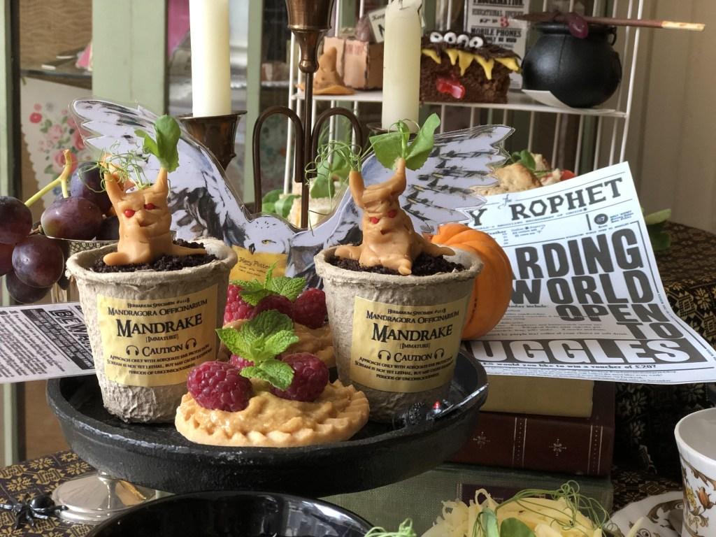 Mandrake harry potter cakes