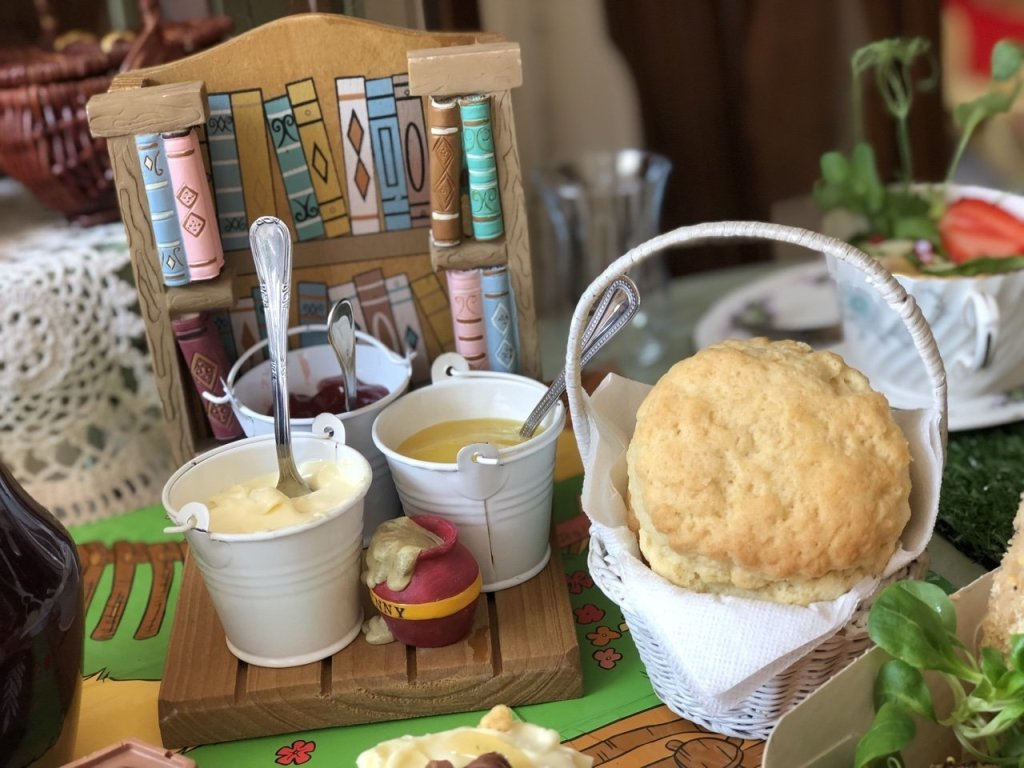 Scones and buckets of jam winnie the pooh afternoon tea