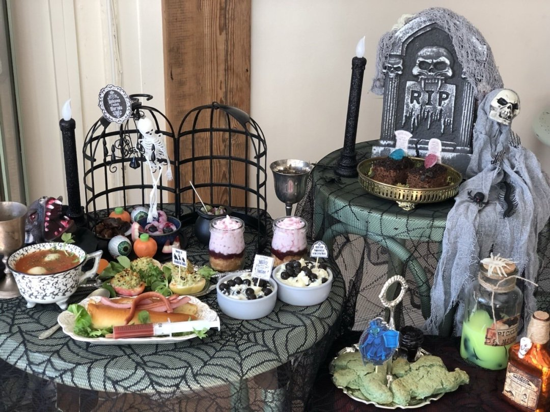 Haunted Mansion Halloween Afternoon Tea View from front