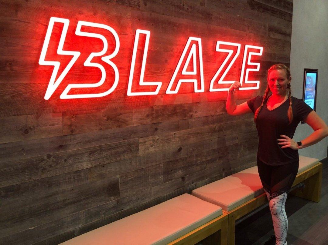 Me outside my first blaze session David Lloyd Blaze
