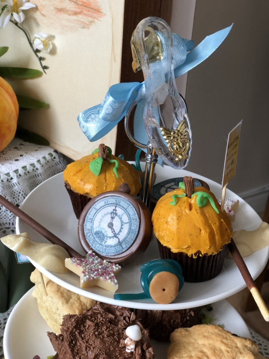 Sweet stuff from Cinderella afternoon tea, pumpkin muffins