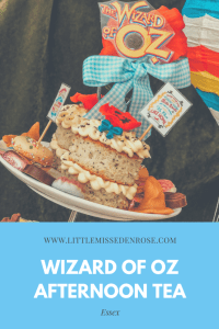 Wizard of Oz themed afternoon tea at Cardamon Tea Lounge, Colchester Essex