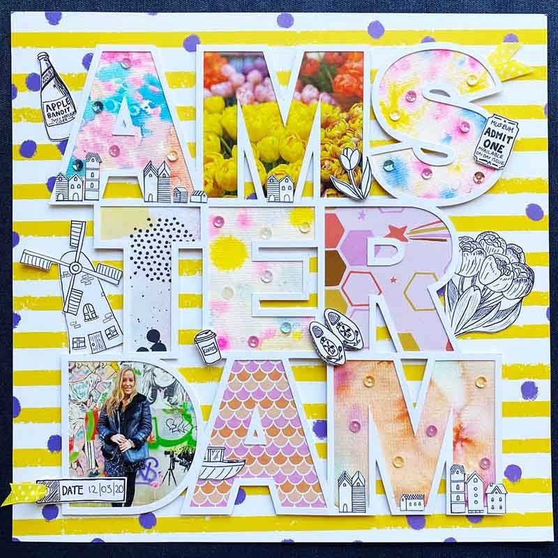 Amsterdam cut file scrapbooking page by Little Miss Eden Rose