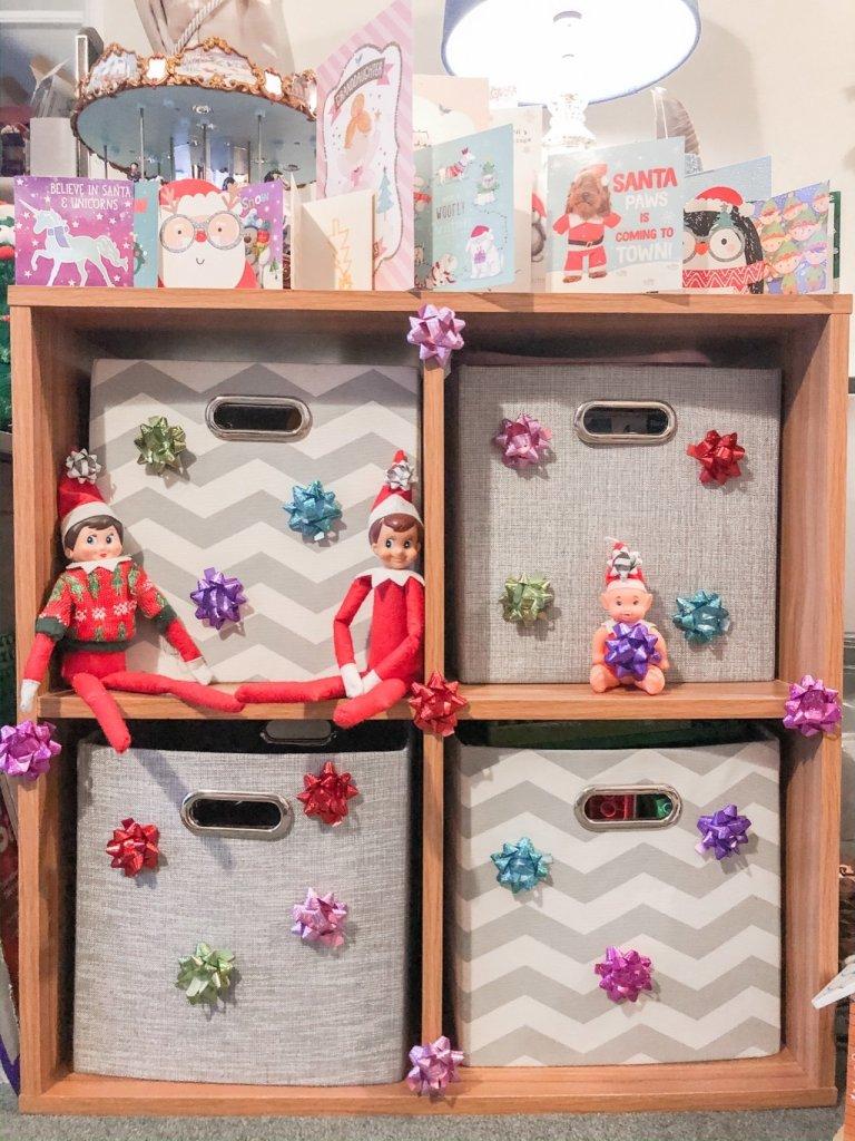 Elf on the shelf easy ideas christmas bows