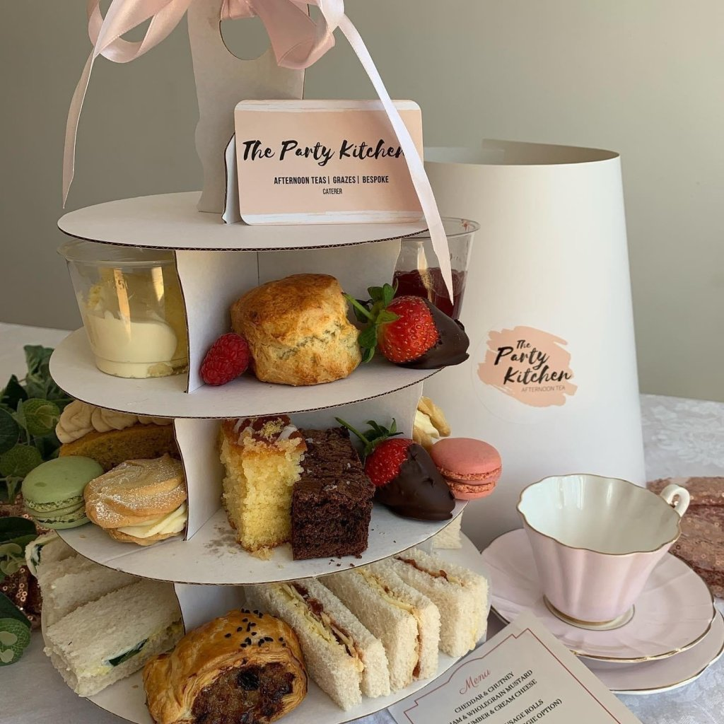 The party kitchen afternoon tea delivery in Essex