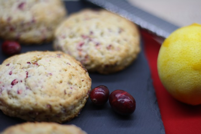 Meyer Lemon Cranberry Scones