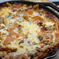 Baked Ziti with Sausage and Eggplant