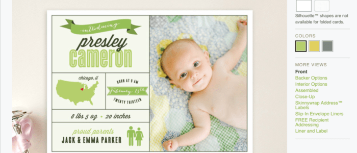 BAPTISM CARDS AT MINTED