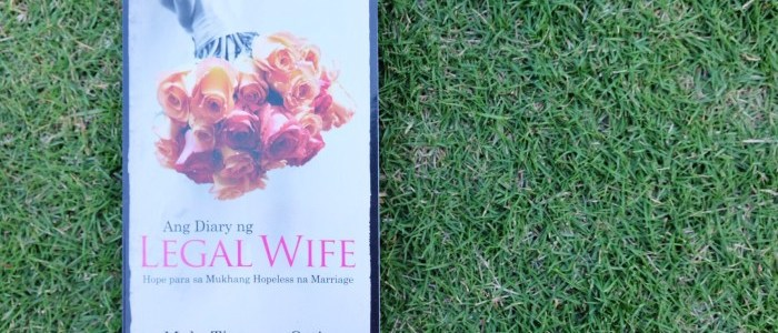 BOOK OF THE MONTH: ANG DIARY NG LEGAL WIFE