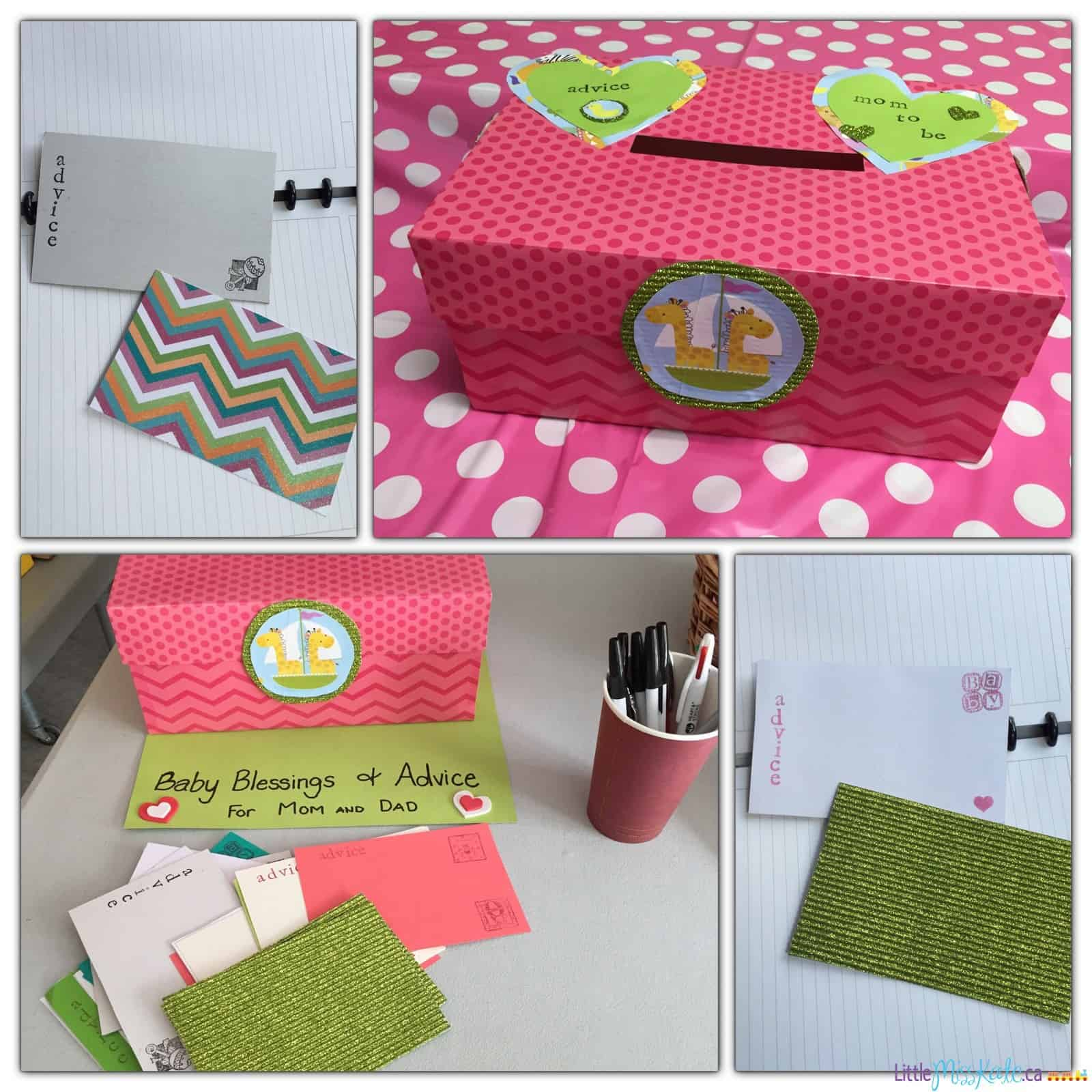 How Make Baby Shower Card Box