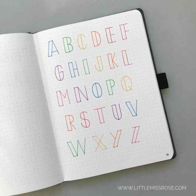 25 Simple Hand-Lettered Fonts For Your Bullet Journal  Little