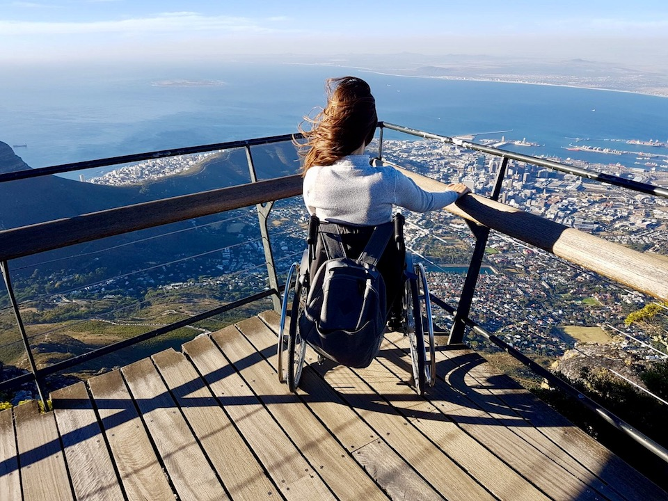 View of Cape Town on top of wheelchair accessible Table Mountain