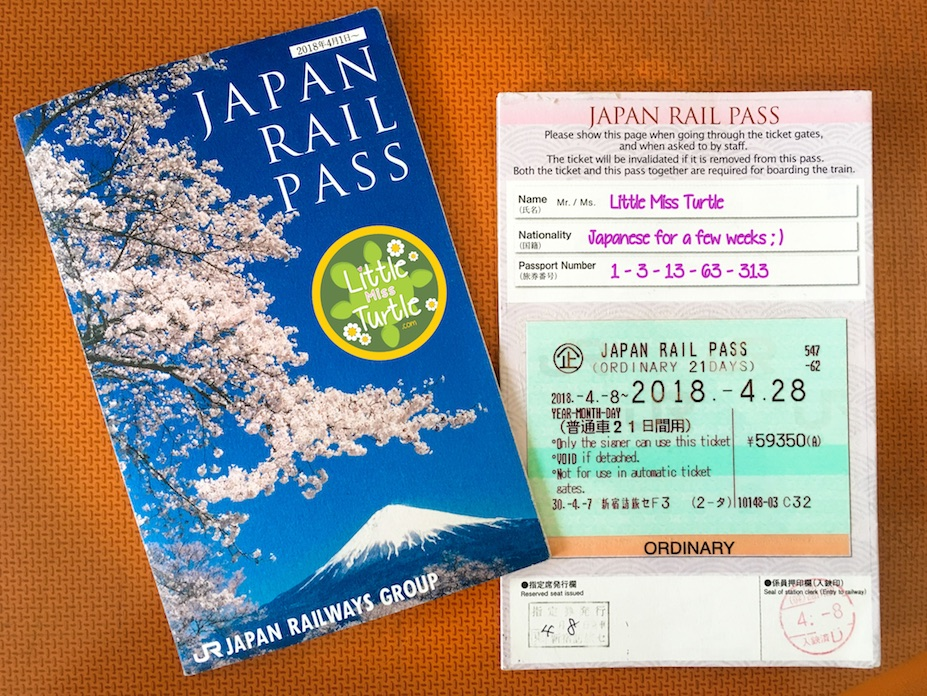 21-day Japan Rail Pass (ordinary)