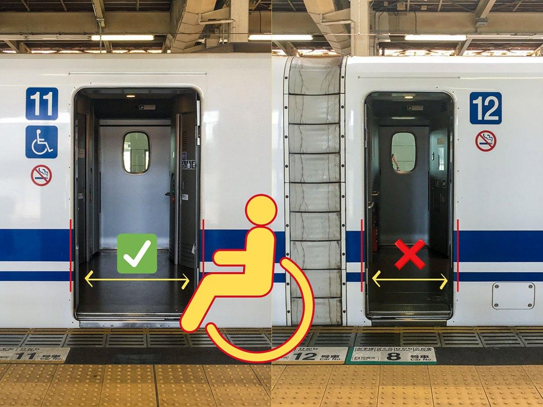 Shinkansen accessible door