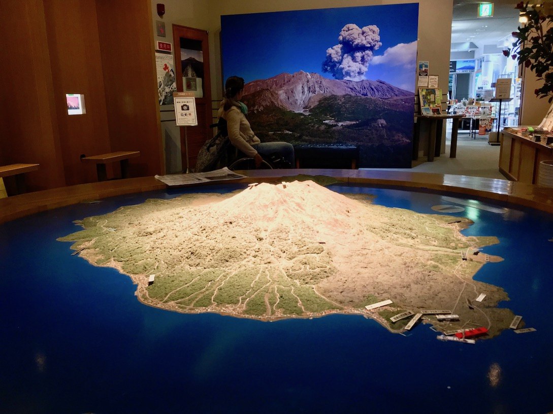 Inside Sakurajima Visitor Center | Little Miss Turtle
