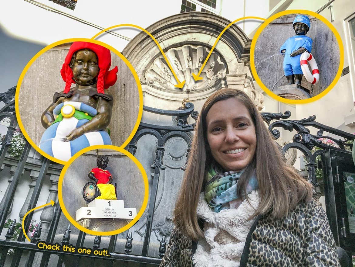 Manneken Pis Brussels | Example of costumes | Little Miss Turtle | Accessible Travel Blog