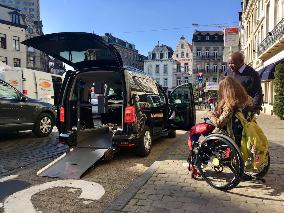 Wheelchair-accessible taxi in Brussels | Little Miss Turtle