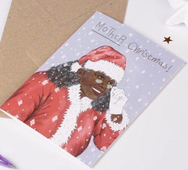 Kitschnoir staionary black owned christmas cards