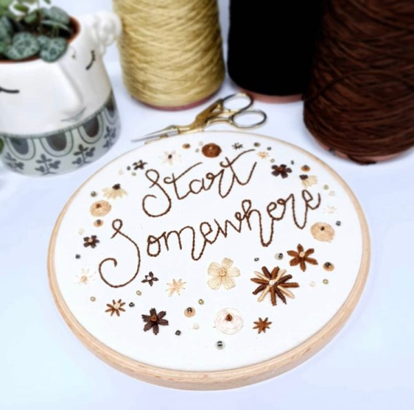 Natalie Gaynor Designs hand embroidered black owned gift