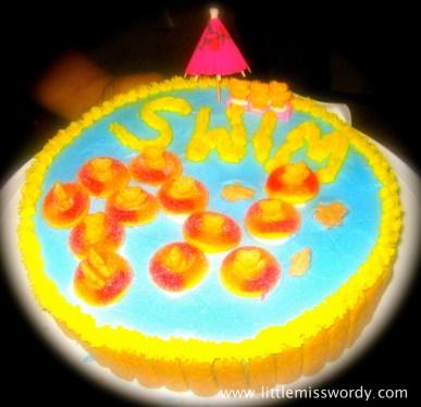 Summer Cake, Swim Party Cake