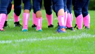 football, breast cancer awareness, pee wee football, pink socks, think pink