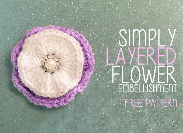Simply Layered Flower Embellishment Little Monkeys Crochet