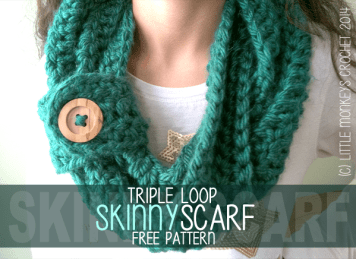 Triple Loop Skinny Scarf