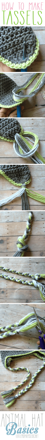 How to Make Tassels | Photo Tutorial by Little Monkeys Crochet