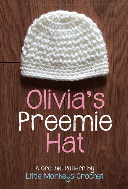12 Days of Christmas NICU Hat Challenge: Olivia's Preemie Crochet Hat Pattern | Little Monkeys Crochet