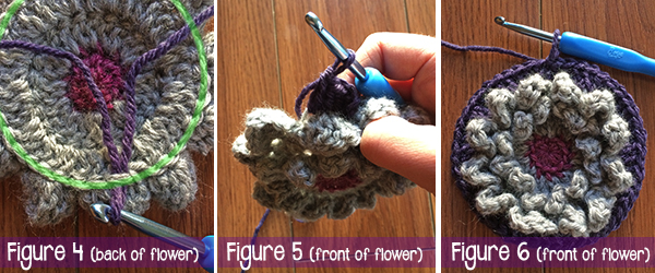 "12"" Wildflower Granny Square from Square-A-Day CrochetAlong   Free Crochet Pattern by Little Monkeys Crochet"