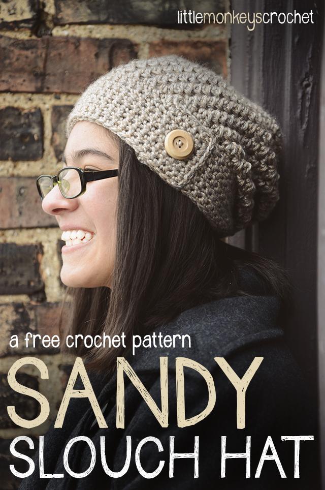 Sandy Slouch Hat Free Pattern Little Monkeys Crochet