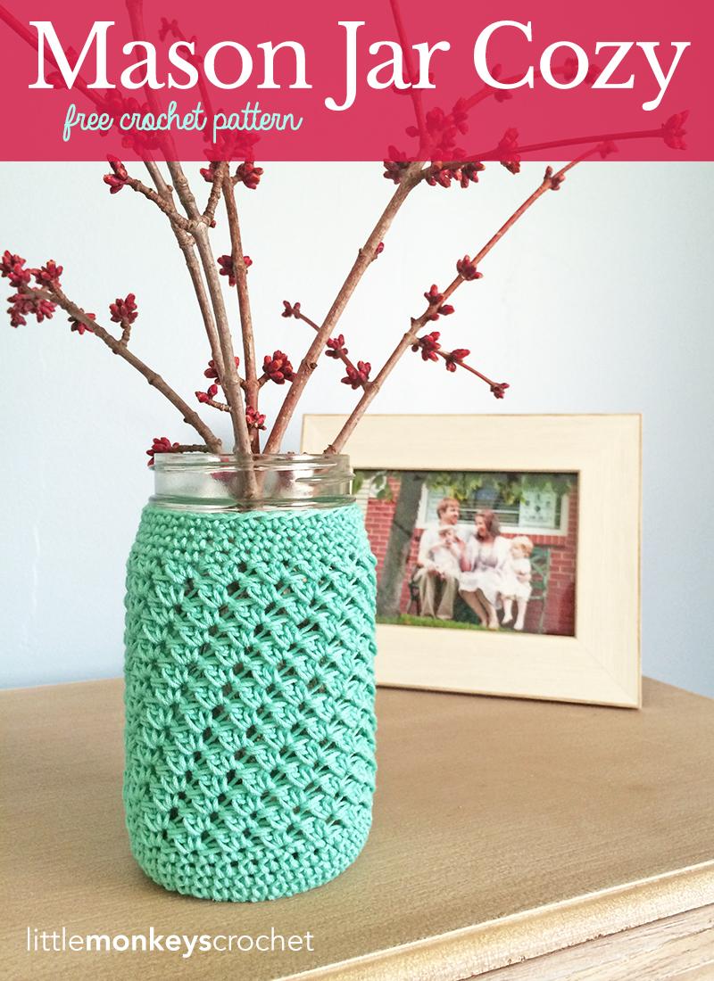Mason Jar Cover Free Pattern Little Monkeys Crochet